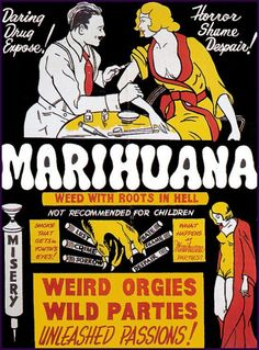 Marijuana weed with roots in hell injecting weed