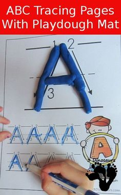 These are FREE ABC Uppercase Tracing Pages with Play Dough Mats from 3 Dinosaurs. This set includes: A to Z Uppercase Tracing the D Preschool Letters, Learning Letters, Kindergarten Literacy, Preschool Learning, Early Learning, Kids Learning, Letter Activities, Literacy Activities, Teaching Resources