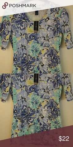 Women's T shirt top Tee blouse floral size s small New with tags, quality soft cotton / polyester. Handling time is 4 to 6 days. Karen Scott Tops Tees - Short Sleeve