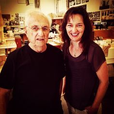 sallyaitkenAnd here he is folks.... My film about #FrankGehry goes to air on #BBC One next week. #documentary #arts #design #imagine #AlanYentob #architecture #sydney #UTS