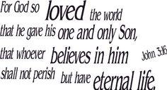 John 3:16, Vinyl Wall Art, God so Loved World « Holiday Adds