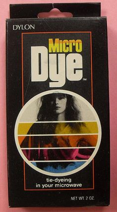 AWESOME>  Tie-dye in your microwave! 1970s