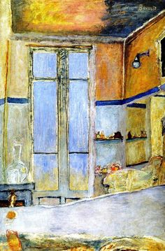 In the Bathroom / Pierre Bonnard - circa 1940. Moving towards abstraction. Love this painting.