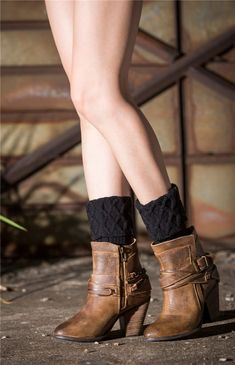 These lace ankle boot socks or leg warmer are a great addon for your with boots! A fun and beautiful winter outfit with comfortable knitted cotton. Work Attire Women, Lace Ankle Boots, Handmade Leather Shoes, Boot Socks, Classy Outfits, Cute Tops, Leg Warmers, Winter Outfits, Womens Fashion