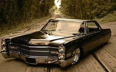 Cadillac De Ville, retro car, low rider, машина, тачка