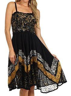 Sakkas 55341 Aphrodite Embroidered Batik Dress - Black / Yellow - One Size Sakkas http://www.amazon.com/dp/B00LGZ22YA/ref=cm_sw_r_pi_dp_htWAub1GNKVJ7