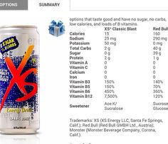 XS Classic vs. Red Bull... Do you see the difference??!!