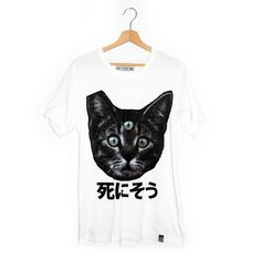 """Internet culture meets fashion, unique and cattastic. This smooth t-shirt has a soft front print in Japanese: Shini sou - """"seems like i'm going Single Women, Platforms, Internet, Culture, Touch, Crop Tops, Inspired, Lifestyle, Female"""