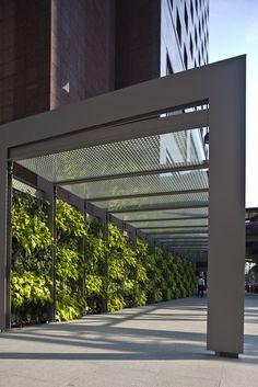 garden wall exterior trellis