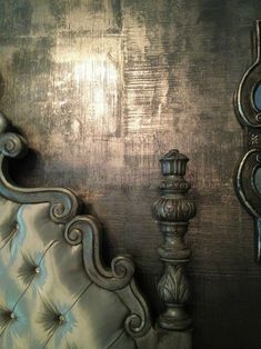 Shimmery and luxe bedroom walls created with both Metallic Plaster and Metallic Paint by Modern Masters Metallic Paint Walls, Faux Painting Walls, Faux Walls, Silver Walls, Plaster Walls, Textured Walls, Wall Paintings, Painting Furniture, Wood Walls