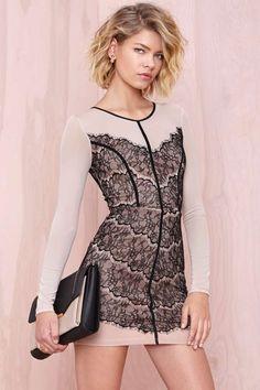 Chantal Lace Dress at Nasty Gal