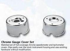 Chrome gauge cover set