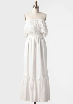 Great dress for summer. Put on a big turq or coral necklace and you're set.