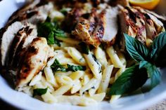 grilled chicken with lemon basil pasta more chicken recipe basil pasta ...