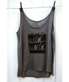 'Wild World' Tencel Jersey Vest for Women