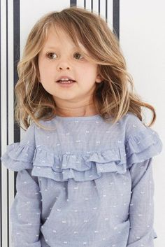 Buy Blue Ruffle Blouse from the Next UK online shop OMG I love the ruffles Little Girl Outfits, Little Girl Fashion, Little Girl Dresses, Fashion Kids, Girls Dresses, Fashion Outfits, Baby Shop Online, Uk Online, Girls Blouse