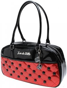 Lux de Ville Cosmic Large Tote Red Sparkle
