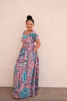 This Ankara dress African Ankara print women maxi dress party is just one of the custom, handmade pieces you'll find in our dresses shops. African Party Dresses, African Print Dresses, African Wear, African Attire, African Fashion Dresses, African Dress, African Outfits, Ankara Fashion, African Prints