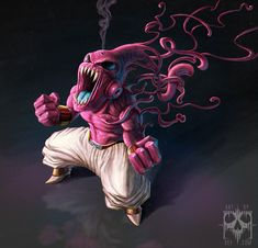 My entry for Character design challenge theme: Dragonball i fused buu and carnage together and got burnage out of it! Black Anime Characters, Dbz Characters, Fictional Characters, Majin Boo Kid, Dragon Ball Z, Character Art, Character Design, Nerd Love, Comic Movies