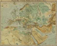 Physical Map of Europe, Western Asia and Northern Africa (Source: University of Texas at Austin)