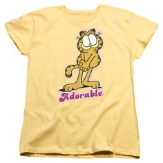 GARFIELD/ADORABLE-S/S WOMEN'S TEE-BANANA-2X   ADORABLE | Cartoon T-Shirts | Mopixiestore.com