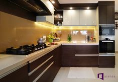 Asense Interior is one of the best Interior designers in Bangalore. We provide residential interiors, innovative interior designers for villas, apartments, home in Whitefield, Bangalore by our interior design expert from Budget to Luxury interior works. Simple Kitchen Design, Kitchen Room Design, Kitchen Layout, New Kitchen Interior, Small Apartment Interior, Interior Work, Apartment Kitchen, Kitchen Cupboard Designs, Kitchen Cupboards