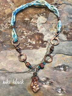 Raku dreams -just listed at legally-boho-jewelry.com !