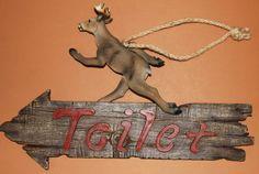 Deer Bathroom Sign
