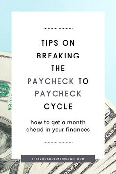 The paycheck to paycheck cycle causes people to get into more debt, and prevents people from saving money. Learn steps you can take to break the paycheck to paycheck cycle in order to finally become debt free, retire early and be financially independent. Get a month ahead in your finances, so that you are not at risk of slipping back into debt. Learn how to not live paycheck to paycheck and how to budget when you live paycheck to paycheck. #budgetahead #budgetwhenbroke Ways To Save Money, Money Tips, Money Saving Tips, Budgeting Finances, Budgeting Tips, Sinking Funds, Financial Peace, Early Retirement, Debt Free