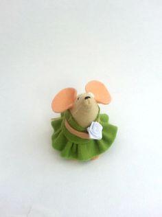 Flower Girl Mouse handmade felt mouse ornament by AsNiceAsMice, £12.00