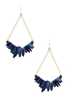 Lapis Spike Earrings by Sarah Healy on @HauteLook