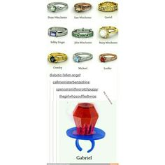 Supernatural rings / iFunny :) ❤ liked on Polyvore featuring supernatural