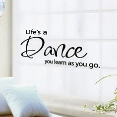 2-Pack, ROTMAKERES DIY Home life is a Dance Love Quote Decor Removable Decal Room Wall Sticker Vinyl Art *** Remarkable product available now. : home diy wall