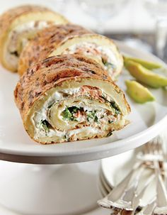 Apetit-reseptit - Lohi-munakasrulla No Salt Recipes, Fish Recipes, Cooking Recipes, Healthy Recipes, Savory Pastry, Just Eat It, Fish Dishes, Sweet And Salty, Street Food