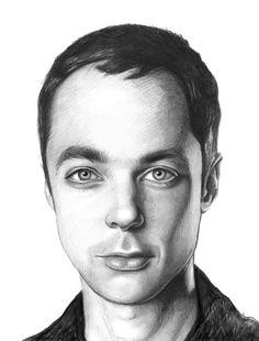 jim parsons, bazinga, portrait, big bang, bbt, theory, drawing, <br/> <br/> www.OlechkaDesign.com