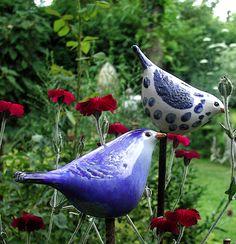 Clay Birds, Ceramic Birds, Ceramic Pottery, Pottery Art, Ceramic Art, Pottery Sculpture, Sculpture Clay, Garden Sculpture, Garden Whimsy