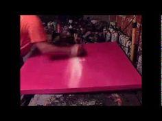 Abstract art painting - Démonstration de peinture abstraite (1) - fond en acrylique - Althea - YouTube