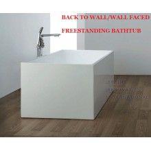 TIGER Thin WALL FACED/BTW Bathroom Square Freestanding Acrylic BathTub