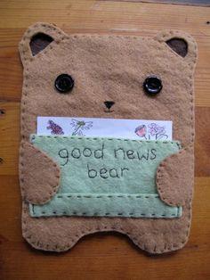lovely felt bear