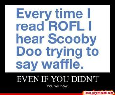I'll never be able to read ROFL the same way again