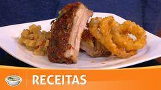 Chefs em Ação   Costelinha barbecue, chutney de maçã e anéis de cebola -...