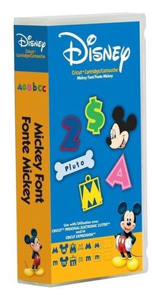 ** Disney Mickey Font Letter Number Cricut Cartridge Factory Sealed Free Ship