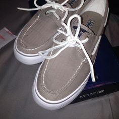 Sperrys!! Brand new Bahama gray Sperrys!! Never worn Sperry Top-Sider Shoes