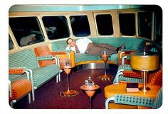 Atompunk and Dieselpunk Inspiration vieilles-annonces: Basil in His Car, The Skytop Lounge, On the Olympian Hiawatha train - 1955 on Flickr.