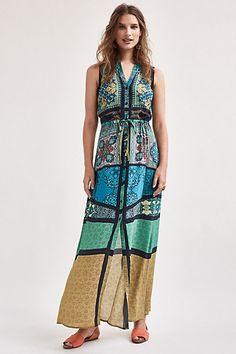 Ezora Silk Maxi Dress #anthropologie
