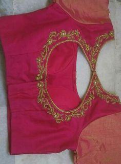 Pink blouse  zari embroidery