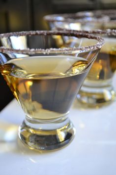 2/3 Cup Frangelico  1/3 Cup Pinnacle Whipped Vodka  Chocolate Syrup and Sea Salted Rim