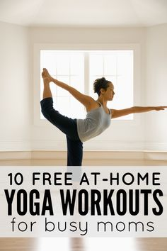 Looking for a way to build core body strength and posture while also reducing your stress levels, but can't seem to find the time? No problem! Try a yoga workout from this collection of 10 free at-home yoga workouts for busy moms after your kids are in bed tonight and you'll feel a world of difference!