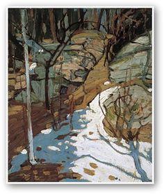 Tom Thomson  Snow And Rocks