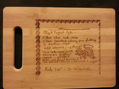 Custom engraved cutting board for Christine from 3dcarving on Etsy
